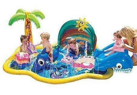 バンザイ ベービー スプリンクル ウォータパーク 小さなお子様用 対象年齢18ヶ月以上 滑り台つき banzai baby sparkles water park [並行輸入品]   B00XBANR42