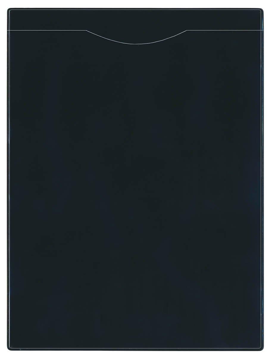 StoreSMART - Plastic File Jackets - Black 100-Pack - Open SHORT Side - FJ85S-PQBK-100