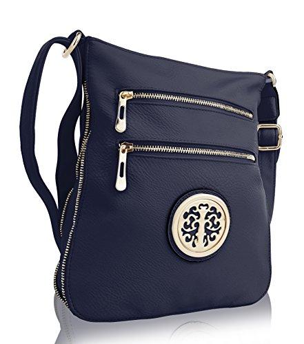 MKF Collection RONEEDA Women Crossbody Bag with Shoulder Strap (Navy Medium)
