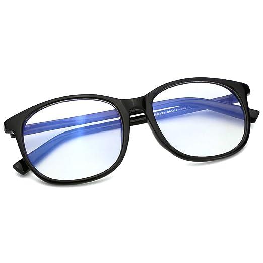 b79f091ad7 Amazon.com  Mimoeye Classic Oversized 80s Square Glasses Frames Anti Blue  Light 0 Magnification Eyewear  Clothing