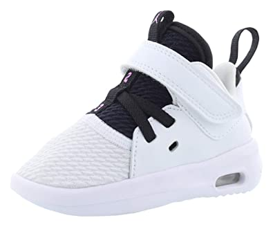 new style cd14c 5f773 NIKE Girl's Air Jordan First Class Toddler Shoes, White/Fuchsia  Blast-Black, 5C