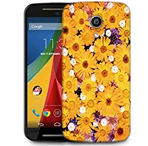 Snoogg Sunflower Designer Protective Phone Back Case Cover For Motorola G 2nd Genration / Moto G 2nd Gen