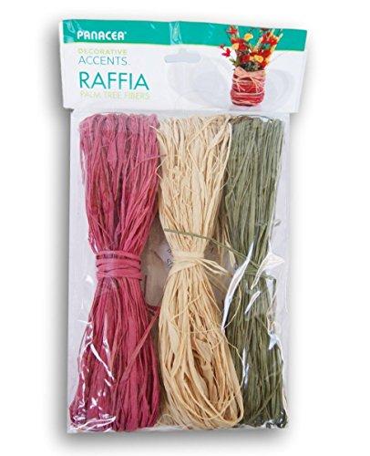 Panacea Colored Raffia Natural Palm Tree Fibers - 61 Cubic Inches