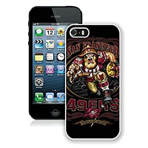 Beautiful Designed Case With San Francisco 49ers 01 White For iPhone 5S Phone Case