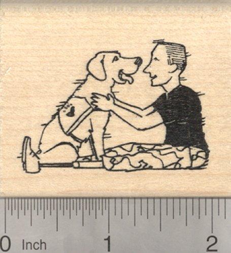 Military Dog Rubber Stamp, Therapy Labrador Retriever
