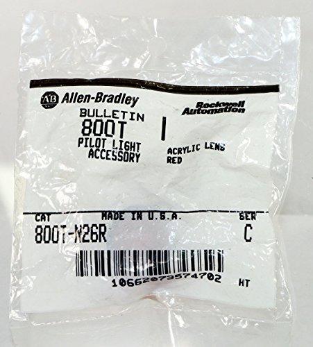 Allen-Bradley 800T-N26R Pilot Light Lens Cap, Red Acrylic (800t Socket)