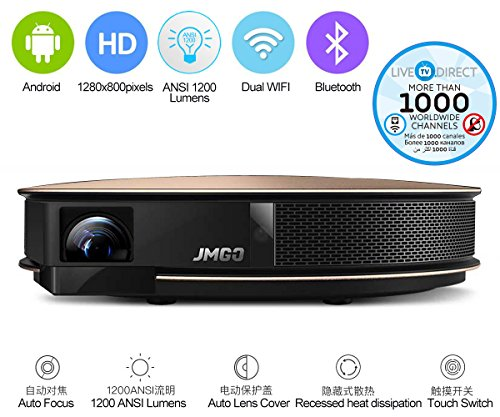 JmGO G3 PRO Home Theater Projector 1080p HD Android Smart Projector DLP 3D Projector with LiveTV.Direct - Pro Store Bass Locations