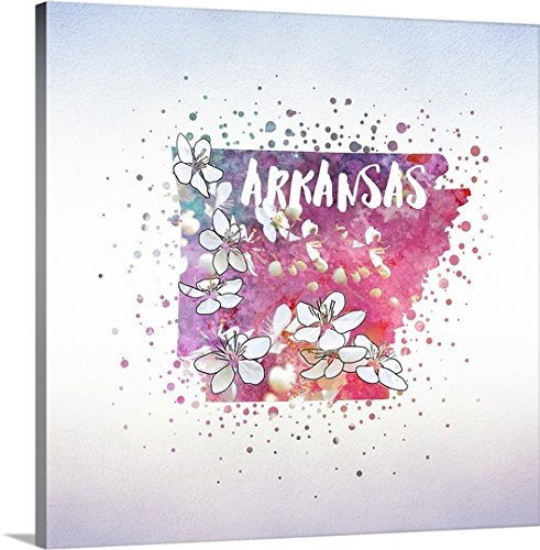 greatBIGcanvas Gallery-Wrapped Canvas entitled Arkansas State Flower (Apple Blossom) by Inner Circle 35''x35'' by greatBIGcanvas