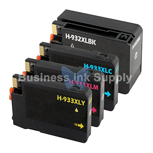 DS 4 PACK NEW GENERIC 932XL 933XL for HP Printer HIGH YIELD + CHIP 932XL 933XL