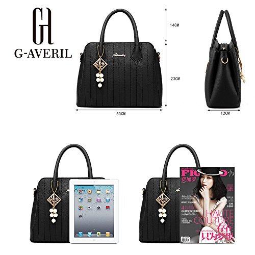 AVERIL Bag borsa Spalla Donna pelle Borse Designer Mano PU Fashion G a rosa a Borsa d1FqYBAY