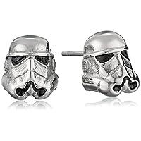 Star Wars Jewelry Unisex 3D Storm Trooper Pendientes de botón de acero inoxidable