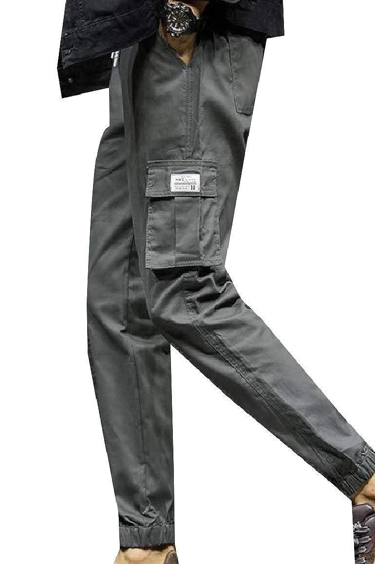 RDHOPE-Men Relaxed Multi-Pockets Fleece Camo Plus Size Tactical Combat Pants