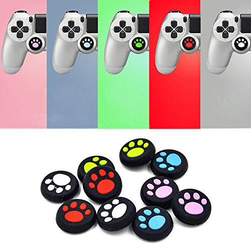 Nextnol 20pcs Colorful Silicone Accessories Cat Paw Style Replacement Parts Thumb Grip Cap Cover For PS2, PS3, PS4, XBox 360, XBox One Controller Review