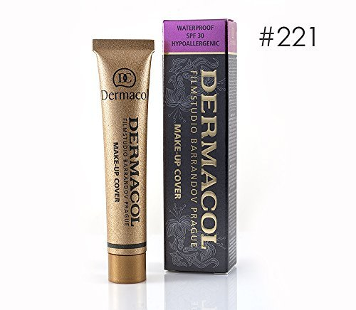 Dermacol High Cover Make-up Foundation Waterproof Hypoallergenic Foundation Authentic - #221