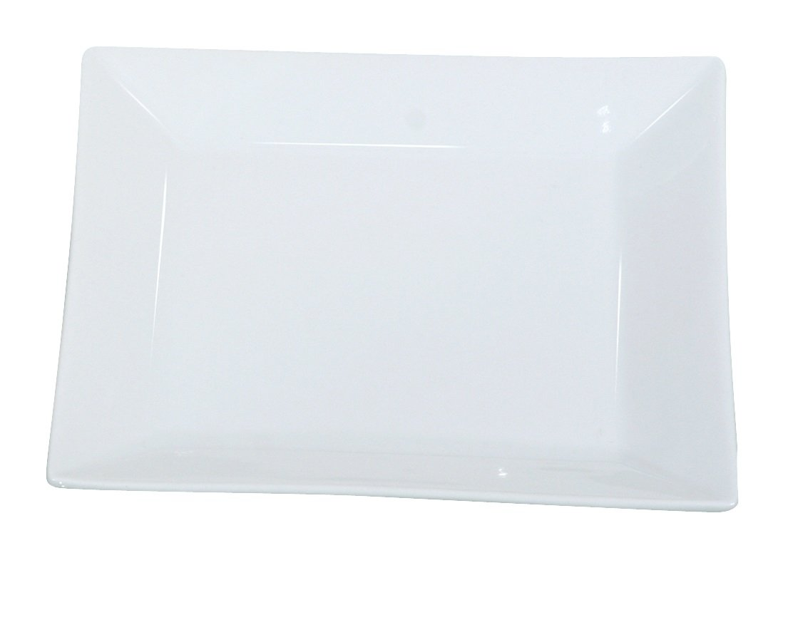 Yanco RM-108 Rome 8'' Square Plate, Melamine, White Color, Pack of 48