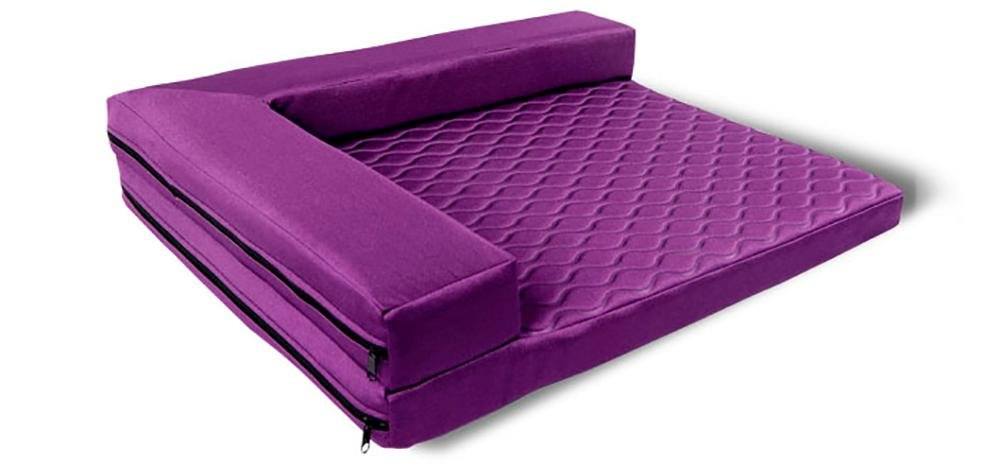 Purple Large purple Large DAN Deluxe Orthopedic Pet Bed Mattress for Dogs and Cats