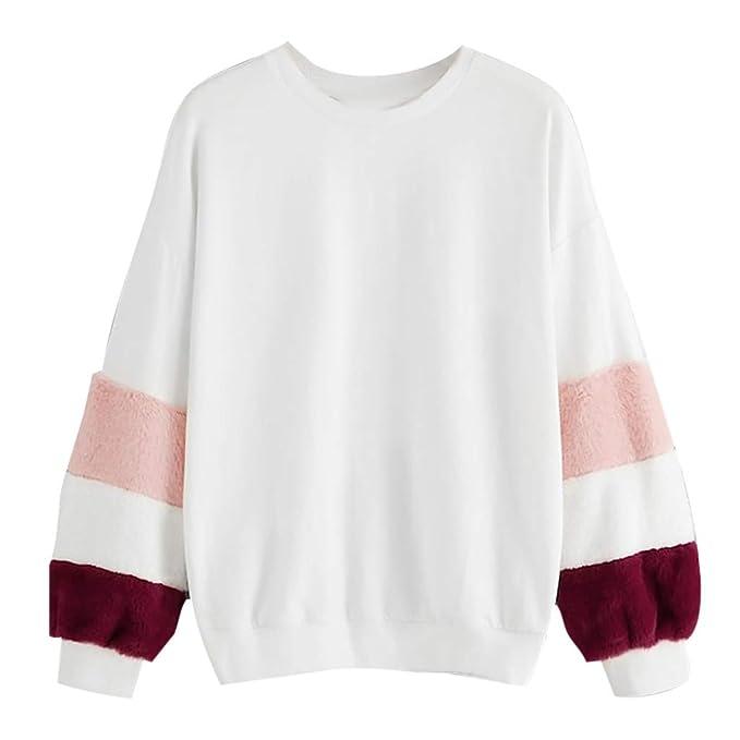 STRIR Mujer Caliente y Esponjoso Tops Chaqueta Suéter Abrigo Jersey Mujer Otoño-Invierno Talla Grande Sudadera: Amazon.es: Ropa y accesorios