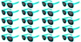 20 Pairs Wholesale Kids Polarized Smoke Lens Matte Glasses Anti Glare Turquoise