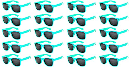 20 Pairs Wholesale Kids Polarized Smoke Lens Matte Glasses Anti Glare Turquoise by OWL