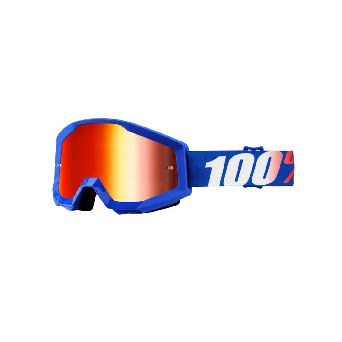 100% unisex-adult Speedlab (50510-236-02) STRATA JR Goggle Nation-Mirror Red Lens, One Size by 100%