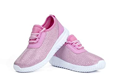 f980ea36eb03 Kids Athletic Tennis Shoes - Little Kid Sneakers with Girl and Boy Sizes  Pink Size 1