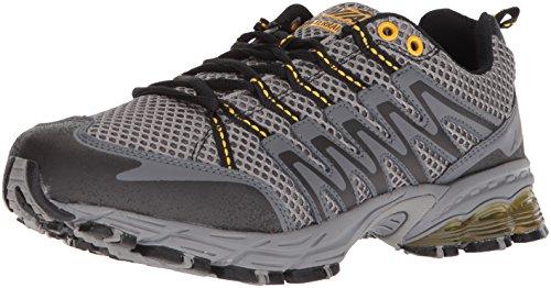 AVIA Men's Avi-Terrain Running Shoe, Frost Grey/Iron Grey/Yellow Pepper,8.5 4E US