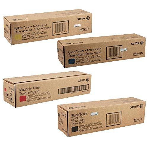 Xerox 006R01175, 006R01176, 006R01177, 006R01178 Standard Yield Toner Cartridge Set - WorkCentre Pro 7345 ()
