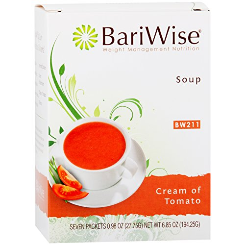 (BariWise High Protein Low-Carb Diet Soup Mix - Low Calorie, Cream of Tomato (7 Count)…)