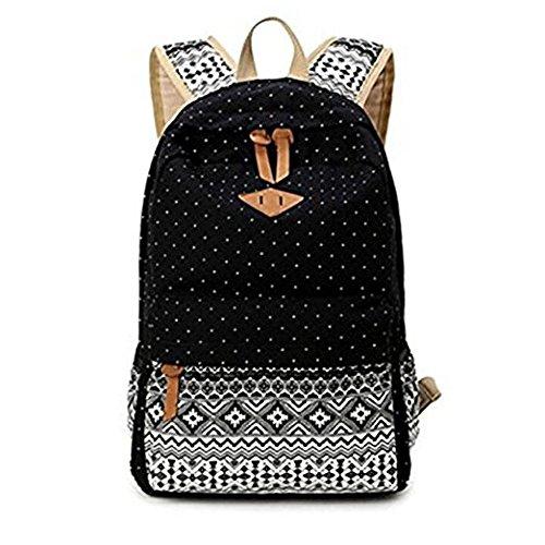 RBSN - Bolso mochila  de Lona para mujer negro negro