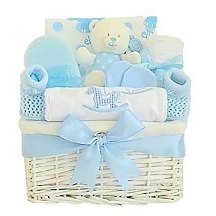 Cesta de regalo para recién nacido My First Rattle, diseño para niño ...