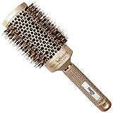 Baasha Extra Large Round Brush 3 Inch, Boar Bristles Round Brush For Blow Drying, Large Roller Brush, Ceramic Round Barrel Brush, Nano Ionic Technology for Volume & Shine, 2 Size Options