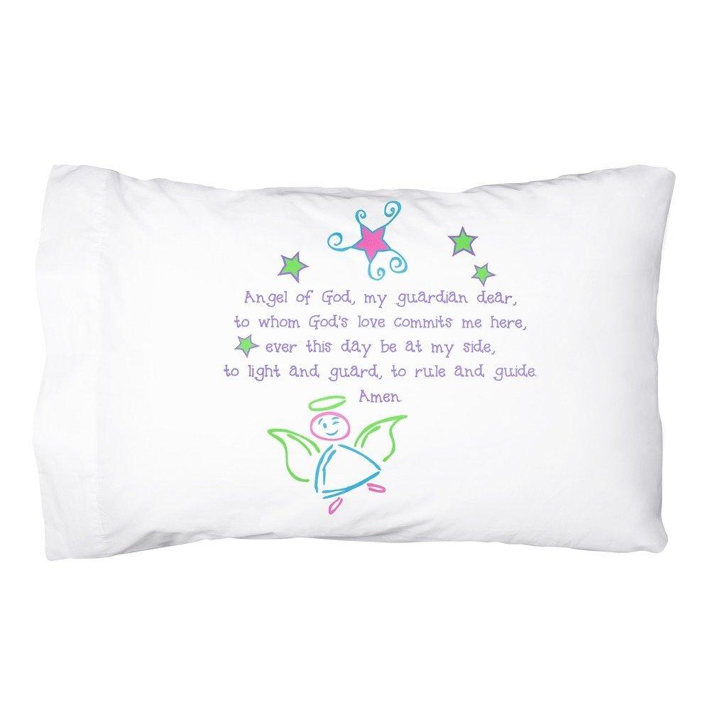 Message Brands Guardian Angel Pillowcase - Pastel Colors