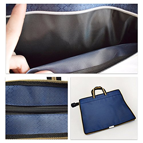 Jia HU 1 blau Slim Laptop Aktentasche Messenger Tasche Portfolio Dokument Organizer Tablet Carry Business Travel tp9S2