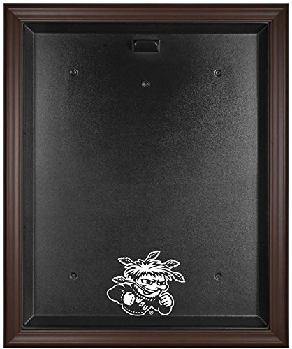 Wichita State Shockers Brown Framed Logo Jersey Case - Fanatics Authentic Certified - College Jersey Logo Display Cases by Sports Memorabilia