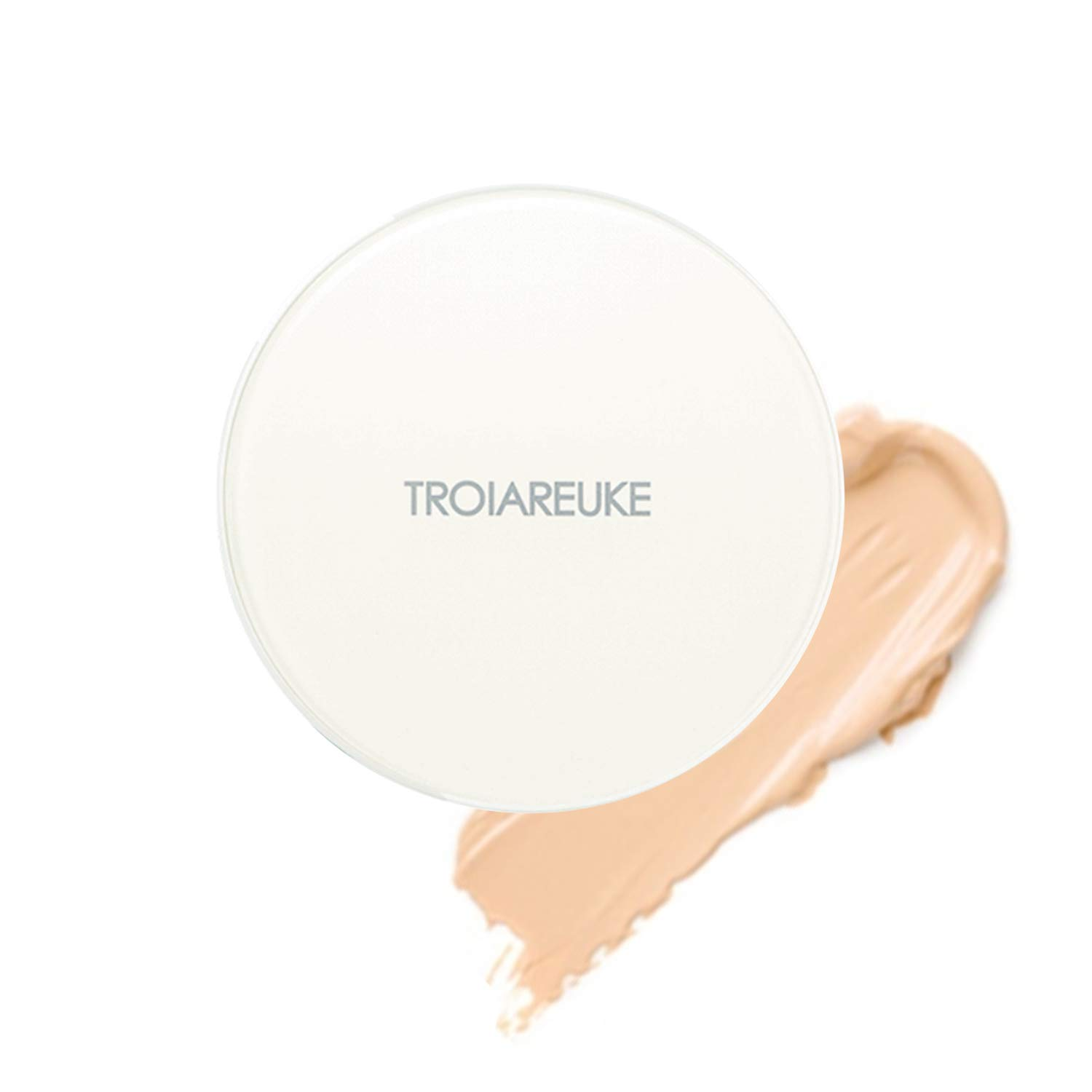 TROIAREUKE A+ Cushion Foundation, 21 Light Beige - SPF50+ PA++++ Healing Skincare Cushion Oily Acne Sensitive Skin