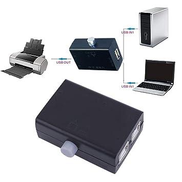 Negro ABS Universal Mini USB Compartir Share Switch Box Hub 2 ...