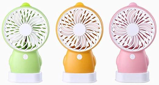 CJW Nuevo Dibujo Animado Patito Amarillo pingüino USB Carga pequeño Ventilador portátil de Mano Bolsillo Mini Ventilador (Color : Orange): Amazon.es: Hogar