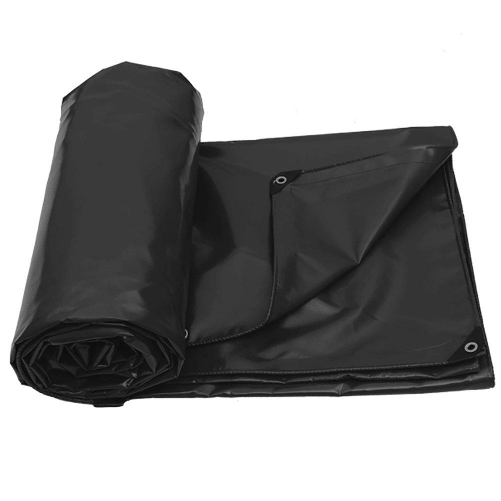 GUOWEI-pengbu ターポリン リノリウム シェード 日焼け止め 防水 老化防止 腐食保護 不凍液 柔らかい ポリエステル糸 屋外 6色 (色 : Black, サイズ さいず : 2.9x2.9m) B07FZ3L8R6 2.9x2.9m|Black Black 2.9x2.9m