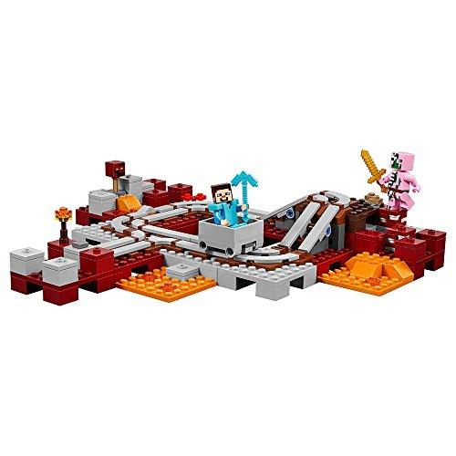 51UPLdlSMAL - LEGO Minecraft The Nether Railway 21130