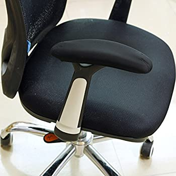 Great BlueCosto Soft Neoprene Office Chair Arm Covers Armrest Pads Black Large Set of
