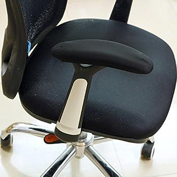 BlueCosto Soft Neoprene Office Chair Arm Covers Armrest Pads Black - Large,Set of 2