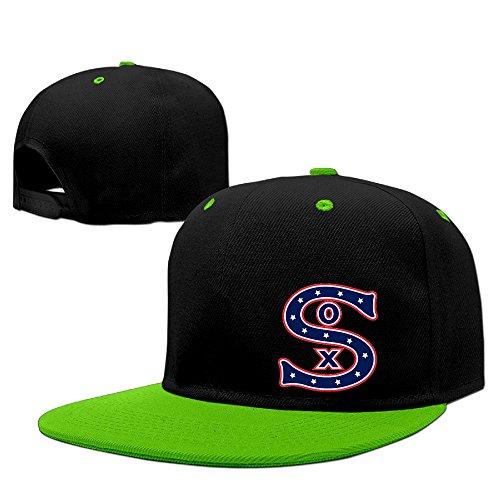 hotboy19-chicago-sport-baseball-sox-sunbonnet-running-hat-adjustable-flat-bill-cap-kellygreen