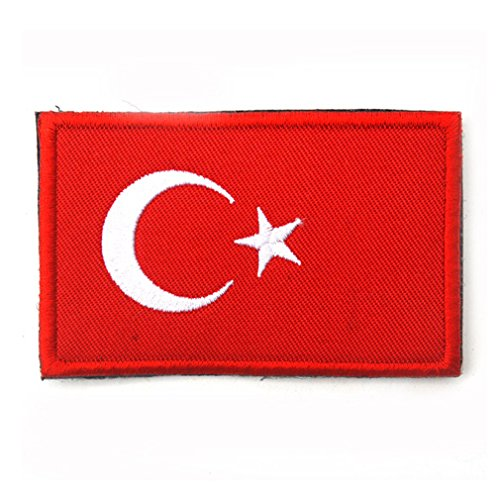 Turkey Flag Patch Embroidered Military Tactical Flag Patches