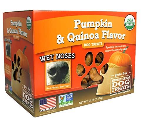 Wet Noses All Natural Dog Treats, Pumpkin/Quinoa, 5 lb Box
