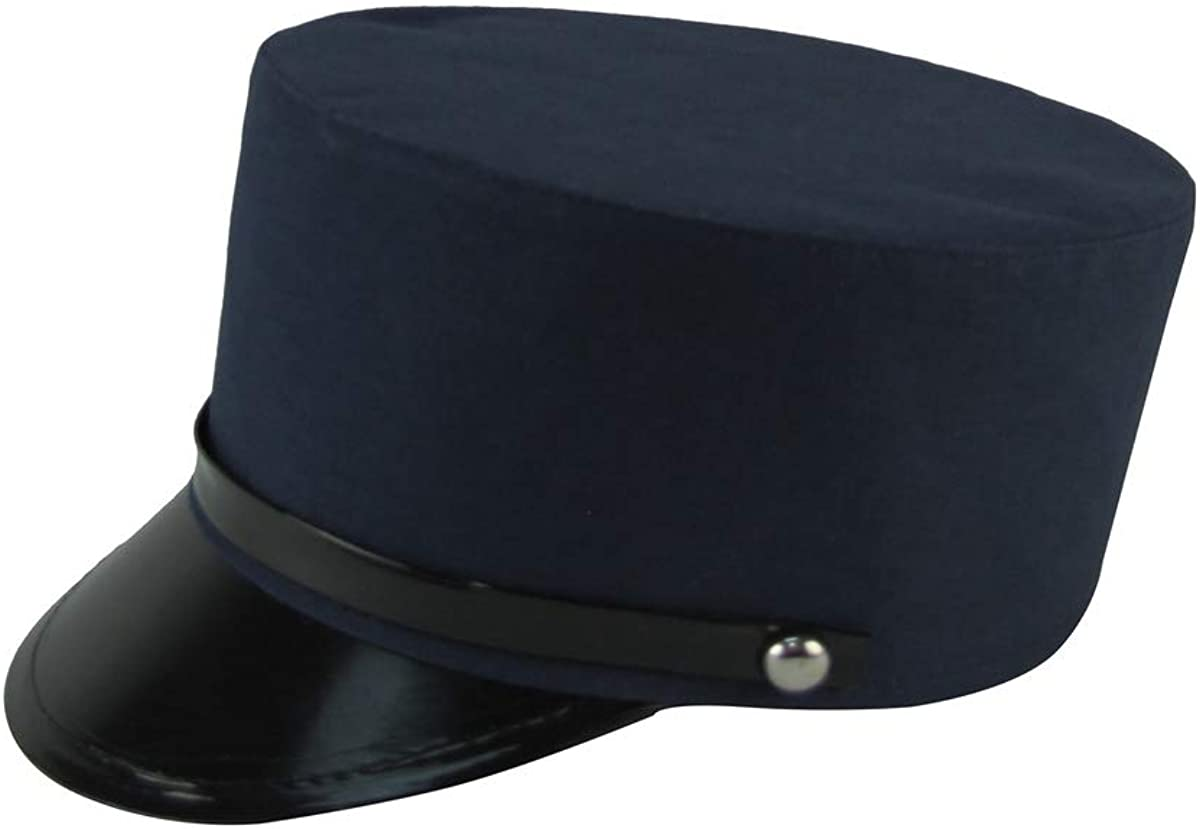 TG,LLC OSFM Navy Blue RR Conductor Hat French Police Cap Movie Theatre Costume Accessory