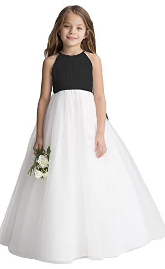 f67152e2668d2 fairy Girl Flower Girl Dress Tulle Chiffon Junior Bridesmaid Dresses for  Wedding Party Pageant Aline