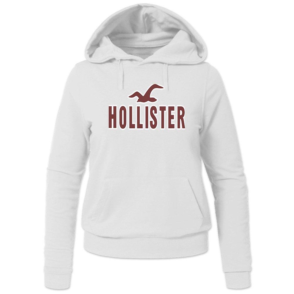 Hollister Hoodies - Sudadera con capucha - para mujer blanco L: Amazon.es: Ropa y accesorios
