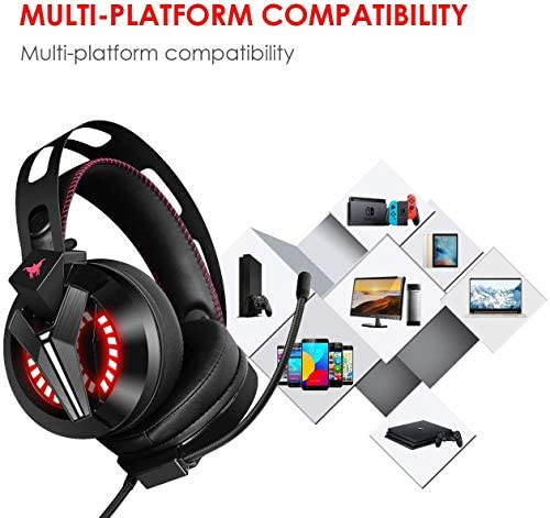 Combatwing Gaming Headset – PS4 Headset PC Headset Xbox One Headset with Noise Canceling Mic Gaming Headphones for PS4/Super Nintendo/Nintendo 64/Xbox One(Adapter Not Included) 51UPN 2BzA8PL