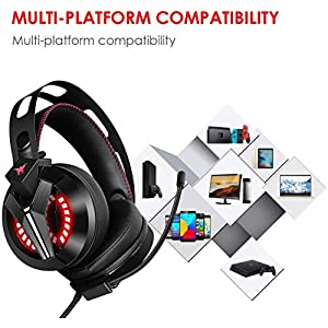 Combatwing Gaming Headset – PS4 Headset PC Headset Xbox One Headset with Noise Canceling Mic Gaming Headphones for PS4/Super Nintendo/Nintendo 64/Xbox One(Adapter Not Included)
