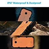 Luxtude Waterproof Portable Charger, 20000mAh Power Bank Built-in LED Camping Light, 4.8A Fast Charging Dual USB Outputs portable phone charger and External Battery Pack for iPhone, iPad, Samsung
